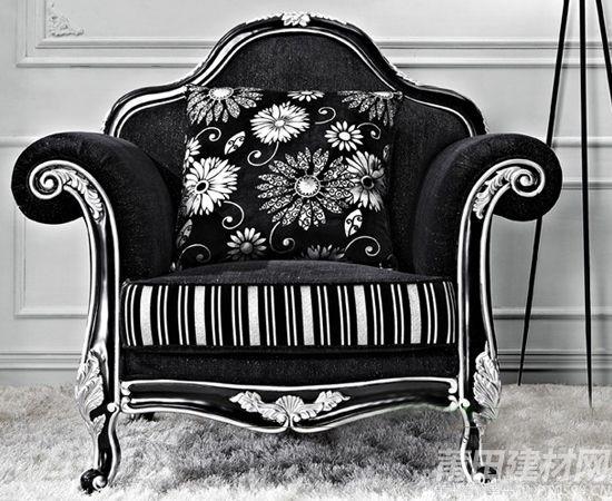 黑色布艺花纹贴图
