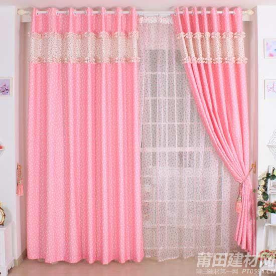 编辑推荐:此款粉红色窗帘